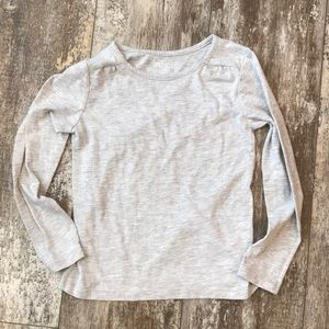 CHILDRENS PLACE LIKE NEW GRAY M 7/8 LONGSLEEVE